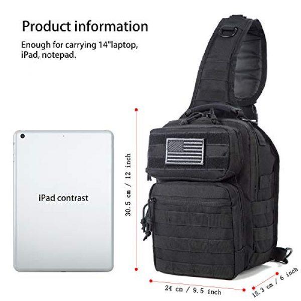 J.CARP Tactical Backpack 6 J.CARP Tactical Sling Bag Pack Military Rover Shoulder Sling Backpack Small