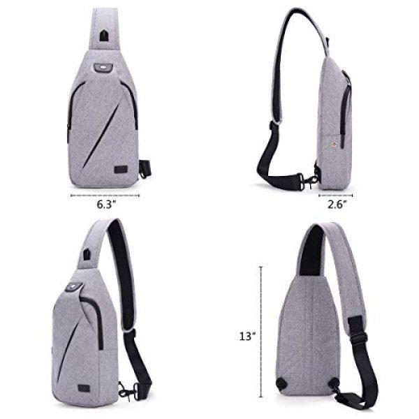 TINYAT Tactical Backpack 3 TINYAT Sling Bag Pack, Chest Shoulder Crossbody Hiking Backpack Sport Bicycle Rucksack School Daypack for Men Women T609