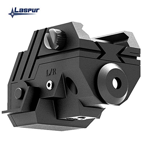 Laspur Rifle Laser Sight 2 Laspur USA Mini Sub Compact Tactical Rail Mount Low Profile Laser Sight with Build-in Rechargeable Battery for Pistol Rifle Handgun Gun