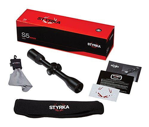 "Styrka Rifle Scope 5 Styrka S5 Series 3-9x40 Plex Riflescope, Black, ST-93030-Aircraft Grade Aluminum 1"" Tube, Waterproof, Fully Multi-Coated Optics for Max Brightness, Optimal Color-Hunting Rifle Scope - Styrka Strong"