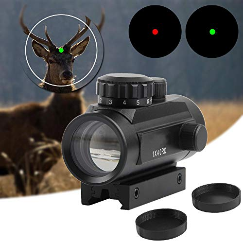 TGUANG Rifle Scope 1 TGUANG 1x40 Riflescope Tactical Red Dot Scope Sight Hunting Holographic Green Dot Sight with 11mm 20mm Rail Mount