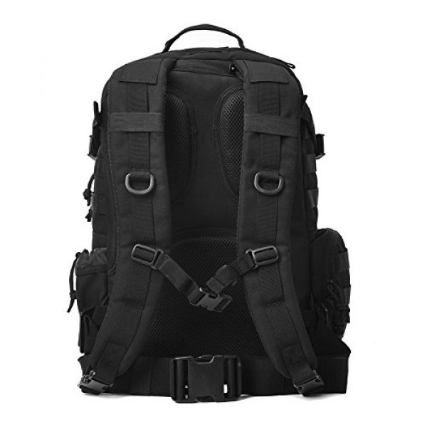 REEBOW GEAR Tactical Backpack 5 REEBOW GEAR Military Tactical Backpack Army Assault Pack Molle Bug Bag Backpacks Rucksack for Outdoor Sport Travel Hiking Camping School Daypack Black