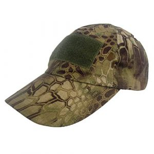 DLP Tactical  1 DLP Tactical Camo Operator Hat Baseball Cap with Hook and Loop Fastener Panels
