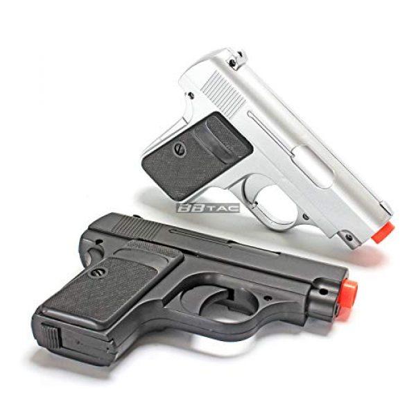 BBTac Airsoft Pistol 3 bbtac 618 110 fps spring concealable airsoft gun with storage case, black/silver(Airsoft Gun)