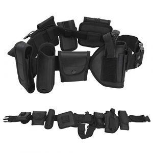 Amarine Made Tactical Belt 1 Amarine Made Tactical Belt Modular Heavy Duty Belt Military Utility Belt with Pouches Holster Gear&Adjustable Nylon Belts with Quick-Release Metal Buckle Waist Pouch Snap Hook Strap