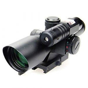 DJym Rifle Scope 1 DJym 2.5-10X40B/G Sight, Rifle Scope 5 Gear Red and Green Waterproof, Shockproof and Anti-Fog