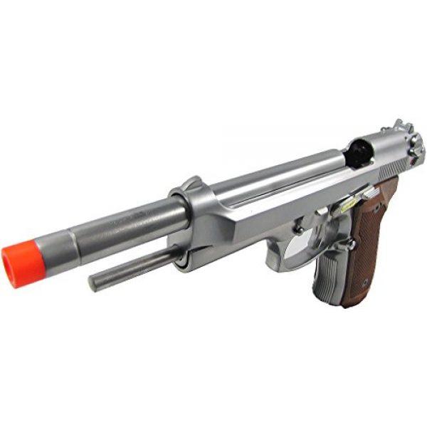 WE Airsoft Pistol 3 WE m92 long-a gas/co2 blowback full metal - silver(Airsoft Gun)