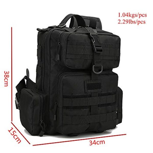 ABENAKI Tactical Backpack 2 ABENAKI Tactical Sling Bag Pack Military Sling Backpack Assault Range Bag