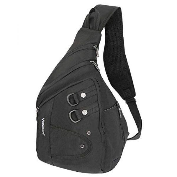 Vanlison Tactical Backpack 1 Vanlison Large Sling Bag Chest Shoulder Bag Purse Backpack Crossbody Bags for Men Women