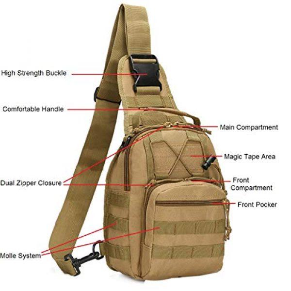 FAMI Tactical Backpack 3 FAMI Outdoor Tactical Bag Backpack, Military Sport Bag Pack Sling Shoulder Backpack Tactical Satchel for Every Day Carry