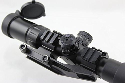 FOLEY Rifle Scope 3 FOLEY 1.5-4X30 Tri-Illuminated Mil Dot or Horseshoe or Chevron Reticle Riflescope with Locking Turrets