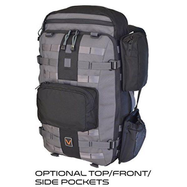 VITAL GEAR Tactical Backpack 5 VITAL GEAR Air Rover Modular Adventure Travel Backpack, Black, Medium/40mm