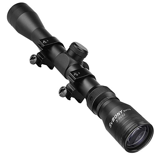 SVBONY Rifle Scope 1 SVBONY SV176 Rifle Scopes,3-9x32mm Sight Scope,Dioptre Adjustable IPX6 Waterproof Shockproof with 20/22mm Rangefinder Scope for Outdoor Sports Activities