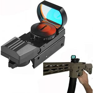 TTHU Rifle Scope 1 Rifle Scope Reflex Red Dot Sight Riflescope with 20Mm Rail Mount Fit Rifle Hunting Tracer Unit