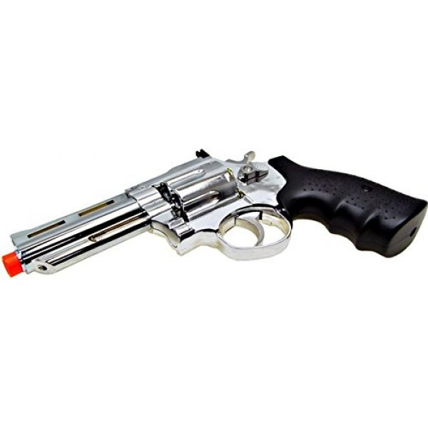 HFC Airsoft Pistol 4 HFC model-132 4 revolver a2 silver by hfc(Airsoft Gun)