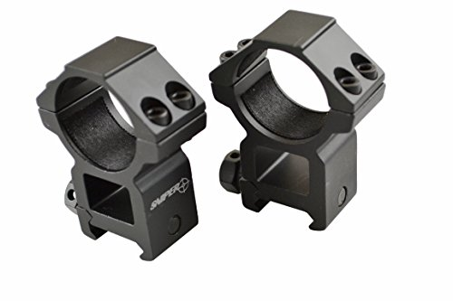 Sniper Rifle Scope Ring 4 Sniper 30 mm High Profile Scope Rings for Picatinny/ Weaver Rail, 4 points contact more Security