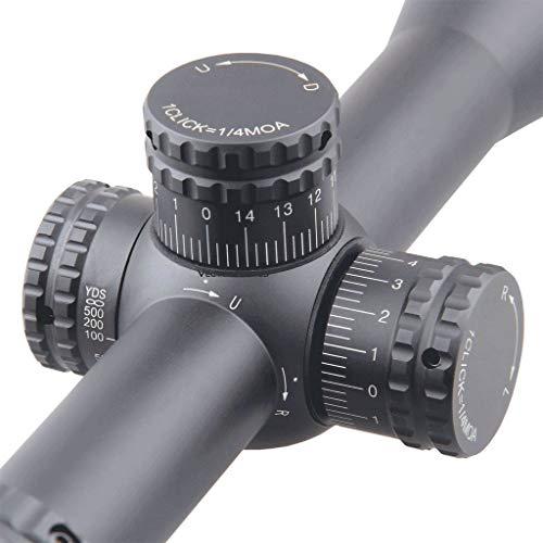 Vector Optics Rifle Scope 3 Vector Optics Hugo 6-24x50 Second Focal Plane (SFP) Riflescope with Illuminated Center Dot BDC Reticle, 25.4mm Tube, 1/4 MOA Per Adjustment, Turret Lock System, Free Mount Rings, Lens Caps, Sunshade