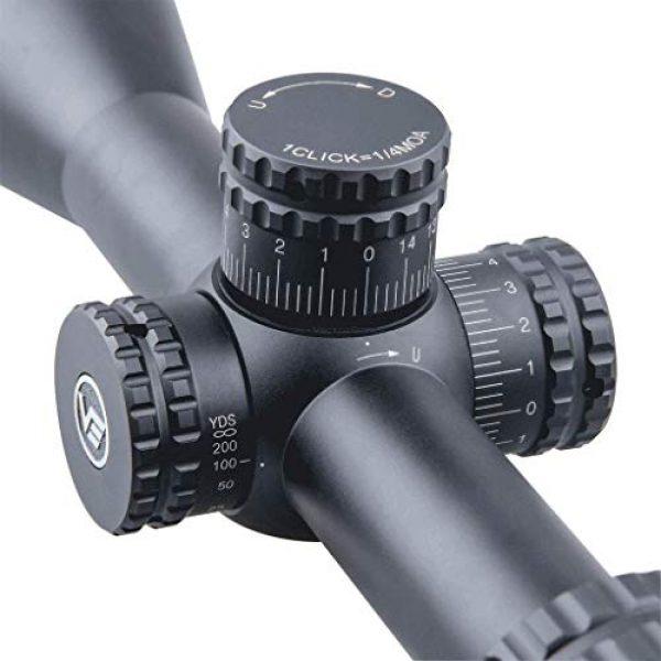 Vector Optics Rifle Scope 3 Vector Optics Hugo 3-12x44 Second Focal Plane (SFP) Riflescope, 25.4mm Tube, 1/4 MOA Per Click Adjustment, Turret Lock System, Free Mount Rings, Lens Caps, 3 Inches Sunshade