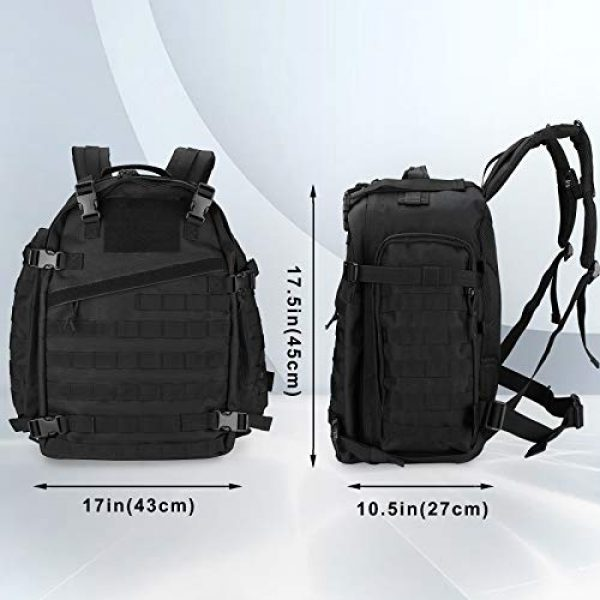 ProCase Tactical Backpack 2 ProCase 46L Military Tactical Backpack, Large 3 Day Outdoor Military Army Assault Pack Molle Bag for Hunting, Trekking, Camping and Other Outdoor Activities