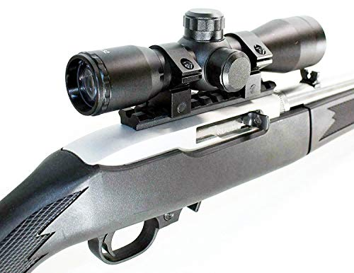 TRINITY Rifle Scope 1 Trinity Black 4x32 Hunter Scope for Ruger 10/22 Hunting Tactical Optics Picatinny Weaver Mount Adapter Aluminum Black Target Range Accessory Single Rail Mount.