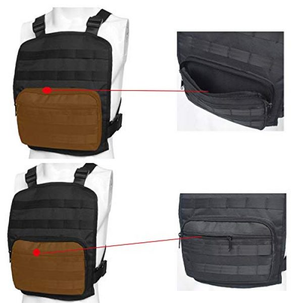 JFFCE Tactical Backpack 2 Tactical Chest Bag Pouch MOLLE Chest Panel Harness Multipurpose EDC Carry Pouch Tactical Chest Rig Black