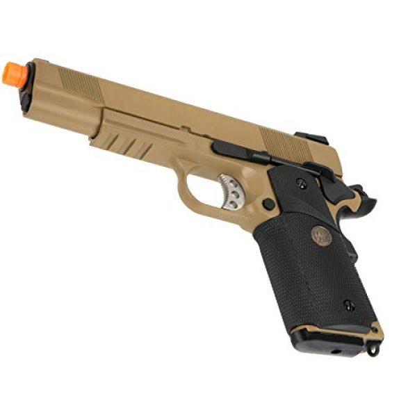 Lancer Tactical Airsoft Pistol 4 Lancer Tactical WE 1911 Full Metal MEU Airsoft Gas Blowback Pistol with Picatinny Rail TAN 350 FPS