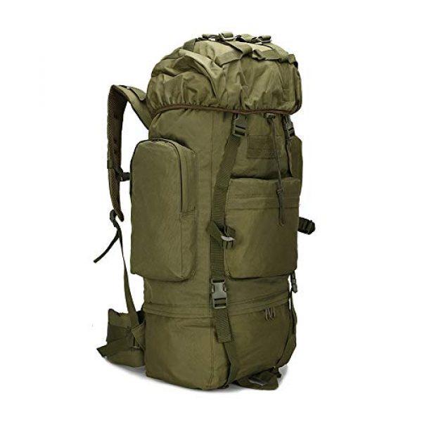 Suoki Tactical Backpack 1 Molle Backpack 65L Waterproof Internal-Frame Hiking Camping Rucksacks With Rain Cover