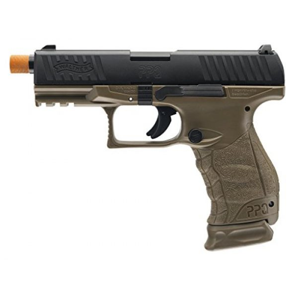 Elite Force Airsoft Pistol 1 Walther PPQ Gas Blowback Airsoft (Dark Earth Black)