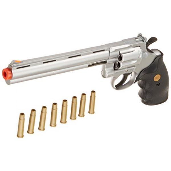 "Team SD Airsoft Pistol 3 TSD/UHC Sports Model 141SR Gas Airsoft Revolver - Silver/Black w/ 8"" Barrel"