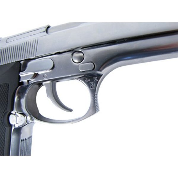 WE Airsoft Pistol 7 WE m92 gas/co2 blowback full metal - silver by we(Airsoft Gun)