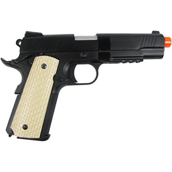 WE Airsoft Pistol 2 WE combat 191 gas blowback full metal - black(Airsoft Gun)