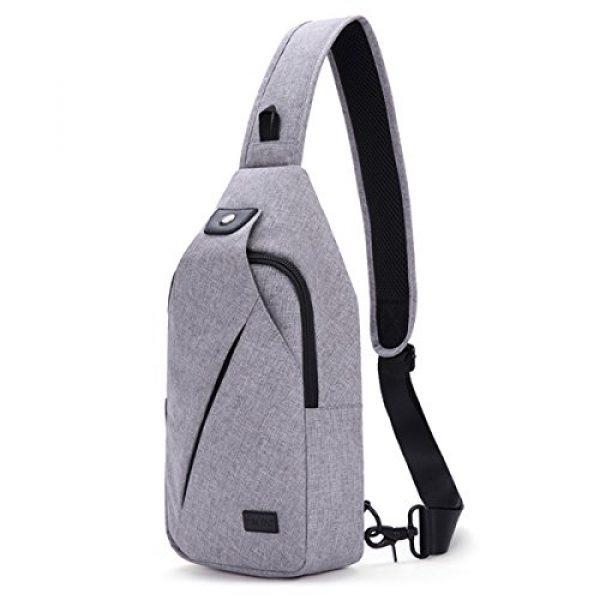 TINYAT Tactical Backpack 2 TINYAT Sling Bag Pack, Chest Shoulder Crossbody Hiking Backpack Sport Bicycle Rucksack School Daypack for Men Women T609