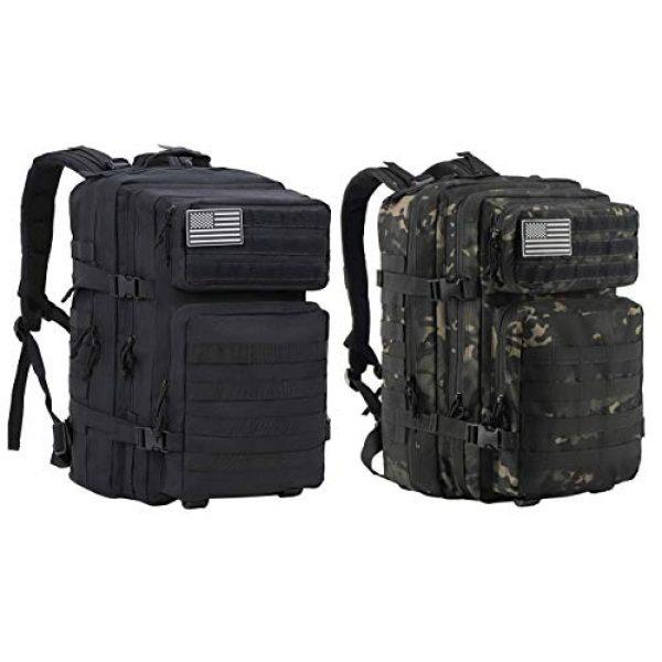 Luckin Packin Tactical Backpack 2 Luckin Packin Tactical Backpack,Military Backpack,Molle Bag 45 Liter Large 2 Pack