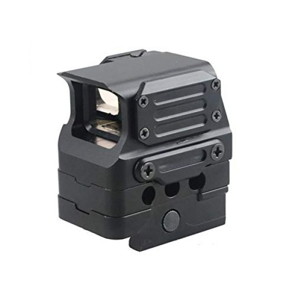 DJym Rifle Scope 5 DJym Square Red Dot Sight, Universal Scope 7 File Lighting Adjustment