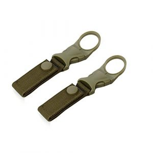 ShineIn Tactical Belt 1 ShineIn Nylon Water Bottle Holder Portable Webbing Strap Hanging Buckle for Outdoor Backpack Camping Hiking 2 pcs