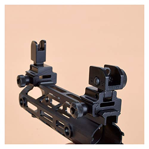 Without Rifle Scope 2 Toy Gun Sight Red dot Sight Magnification 1 Pair of BUIS Front and Rear Sights can be Flipped Quick-Change Iron Sights, Shotgun Accessories (Color : Black)