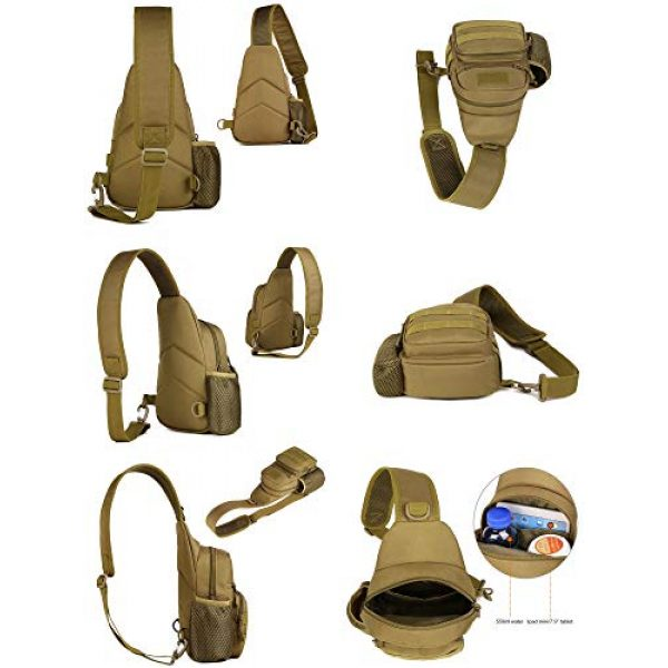 Huntvp Tactical Backpack 5 Huntvp Small Tactical Sling Chest Pack Bag Molle Daypack Backpack Military Crossbody