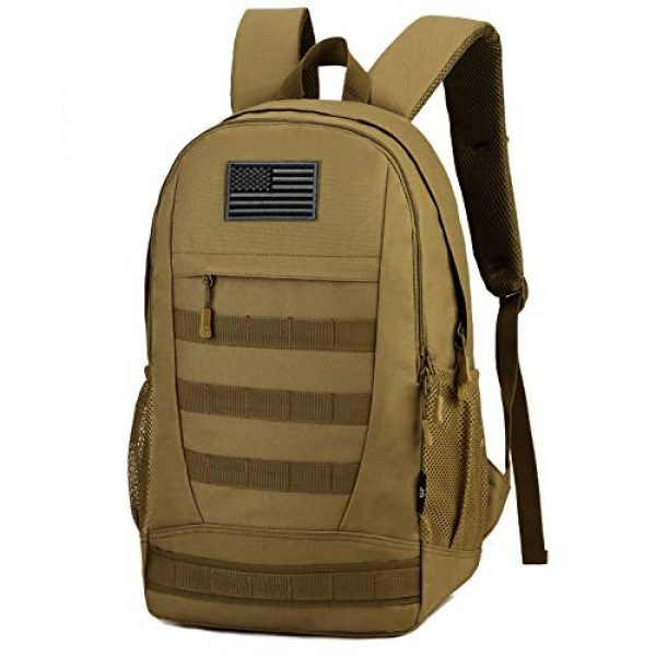 ArcEnCiel Tactical Backpack 1 ArcEnCiel Motorcycle Backpack Tactical Military Bag Army Assault Pack Rucksacks with Patch - Rain Cover Included