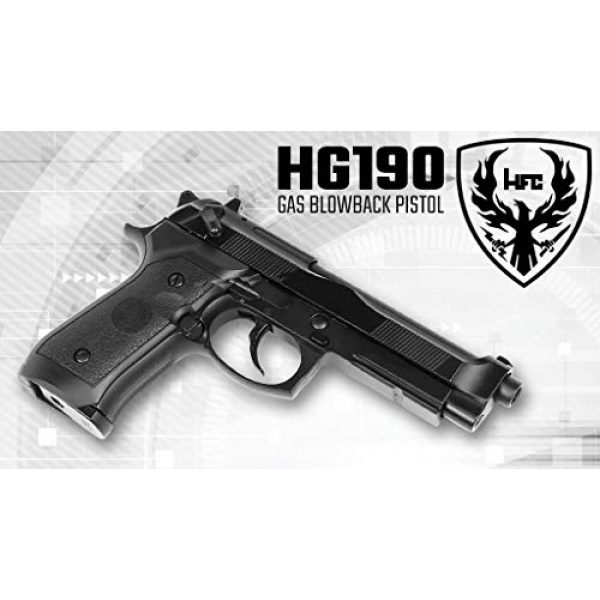 HFC Airsoft Pistol 4 HFC HG-190 Airsoft GBB BLOWBACK CO2 Pistol Black M190 with Gun Case