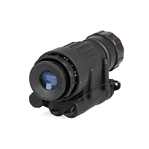 Without Rifle Scope 3 Toy Gun Sight Red dot Sight Magnification Hunting Night Vision Goggles New PVS-14 Digital Night Vision Goggles Shooting Telescope CL27-0008 (Color : Black)