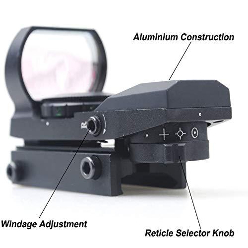 SUIYEU Rifle Scope 4 SUIYEU 1X22X33 Red Green Dot Gun Sight Scope Reflex Sight with 20mm Rail