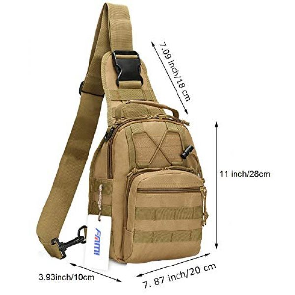 FAMI Tactical Backpack 2 FAMI Outdoor Tactical Bag Backpack, Military Sport Bag Pack Sling Shoulder Backpack Tactical Satchel for Every Day Carry
