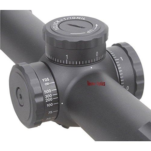 TAC Vector Optics Rifle Scope 4 TAC Vector Optics Marksman 4.5-18x50 Tactical Hunting Long Eye Relief Varmint Hunting Riflescope 1cm Click Sharp Clear Monocular
