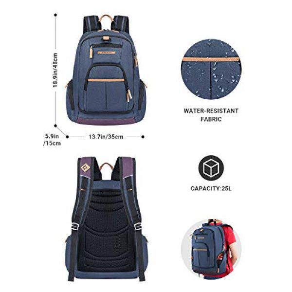 KingCamp Tactical Backpack 3 KingCamp Waterproof Laptop Backpack 17.3 inch for Women & Men Casual Daypack Backpack