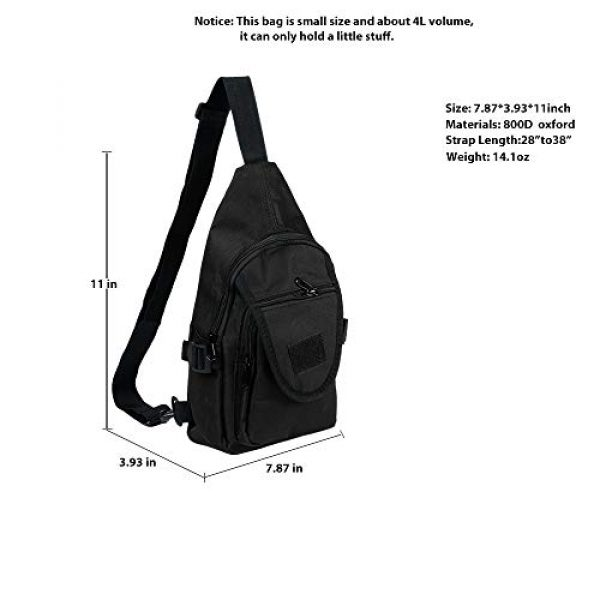 Saigain Tactical Backpack 2 Saigain Sling Bag Shoulder Backpack Crossbody Small Chest Daypack for Hiking Travelling Cycling Men Women