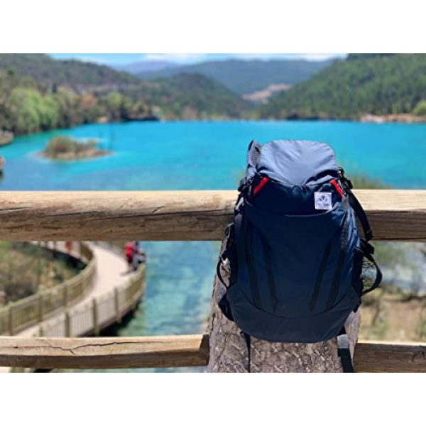 4Monster Tactical Backpack 6 4Monster 28L Ultralight Travel Backpack Foldable Hiking Camping School Sports Packs Laptop Daypack Outdoor Casual Waterproof Bag Navy Classic Sporty Style for Men Women