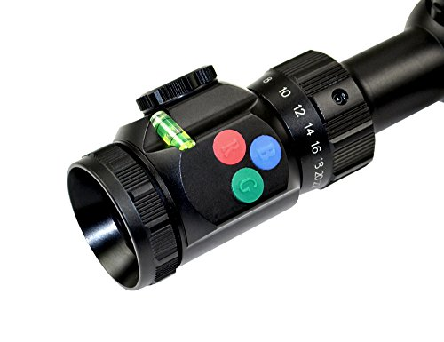 Presma Rifle Scope 5 PRESMA 6-24X50 Precision Hunting Rifle Scope with Illuminated Red, Green, Blue Mil-Dot RXR Reticle and