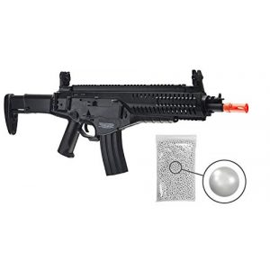 Wearable4U Airsoft Rifle 1 Wearable4U Umarex EF Beretta Arx 160 AEG Competition Electric Air Soft BB Rifle with Included Battery and Charger Pack of 1000ct BBS Bundle (Black)