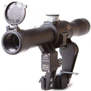 BelOMO Rifle Scope 1 BelOMO POSP 4x24 T. Optical Rifle Scope. Russian Side Mount. 400m Rangefinder. 1 MOA. Combloc