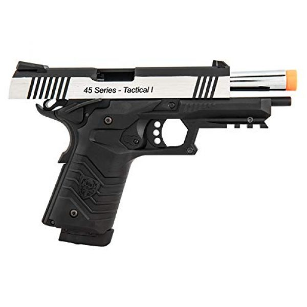 HFC Airsoft Pistol 5 HFC HG-171 Tactical 1911 CO2 Blowback Airsoft Pistol Black Silver
